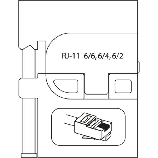MÓDULO DE INSERCIÓN PARA CONECTORES OCCIDENTALES RJ 11 8140-17